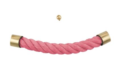 Sargzubehör: Sargbeschlag rosa Seil namhafter Hersteller