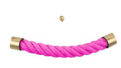 Sargbeschlag pink Seil