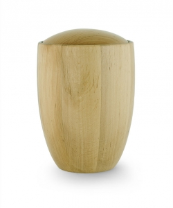 Urne aus Erlen-Holz-Natur