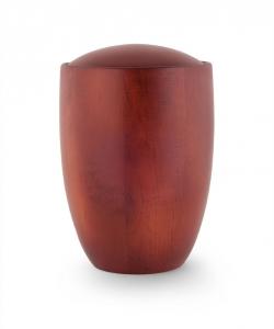 Urne aus Erlenholz Mahagoni gebeizt