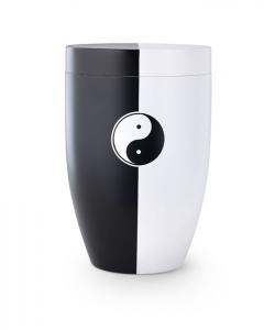 Urne schwarz weiß Yin Yang