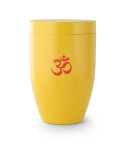Urne gelb - OM Hinduismus