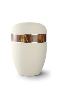 Urnen online Shop Auswahl: Urne Samtton creme, Dekor Palisander