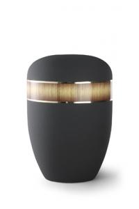 Urnen online Shop Auswahl: Urne graphit Samtton, Dekor Sunburst