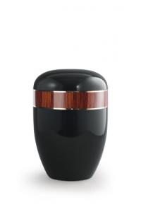 Urnen online Shop Auswahl: Urne schwarz Klavierlack, Dekor Zebrano