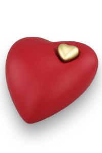 Herzurne rot mit goldenem Herzen