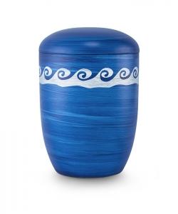 Urnen online Shop Auswahl: Urne für Seebestattung Blau Wellen