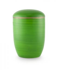 Urnen online Shop Auswahl: Urne für Seebestattung Pazifikgrün mit Goldrand