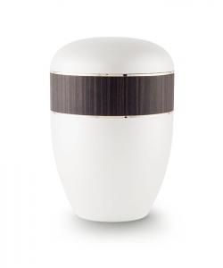 Urnen online Shop Auswahl: Urne weiß Perlmutt Dekor Wenge
