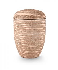 Urnen online Shop Auswahl: Urne Naturstoff Steinoptik rot
