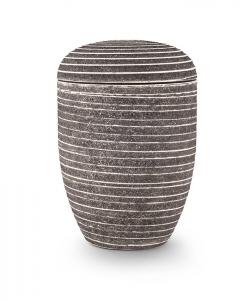 Urnen online Shop Auswahl: Naturstoffurne Steinoptik grau