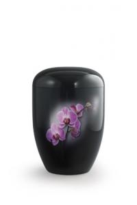 Urnen online Shop Auswahl: Urne schwarz Klavierlack Orchidee