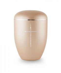 Urnen online Shop Auswahl: Urne gold Kristall Kreuz