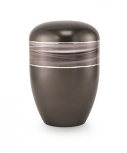 Urnen online Shop Auswahl: Urne braun Wellendekor