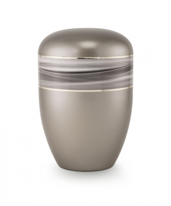 Urnen online Shop Auswahl: Urne rauchgrau Wellendekor