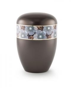 Urnen online Shop Auswahl: Urne braun florales Dekor
