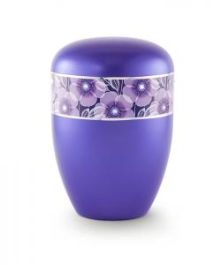 Urnen online Shop Auswahl: Urne violett florales Dekor
