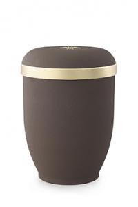 Urnen online Shop Auswahl: FriedWald Naturstoffurne Samtton Café, Goldrand antikgold