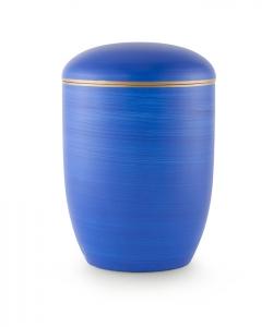Urnen online Shop Auswahl: Urne für Seebestattung Ozeanblau mit Goldrand
