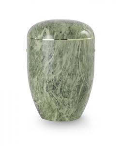 Urnen online Shop Auswahl: Urne Marmore grün weiß