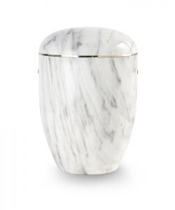 Urnen online Shop Auswahl: Urne Marmore weiß grau