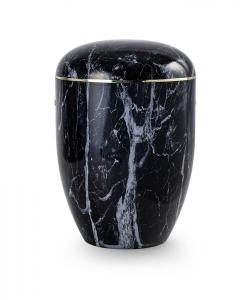 Urnen online Shop Auswahl: Urne Marmore schwarz weiß
