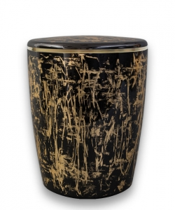 Design Urne schwarz gold