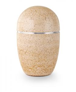 Urne oval beige Kunststein
