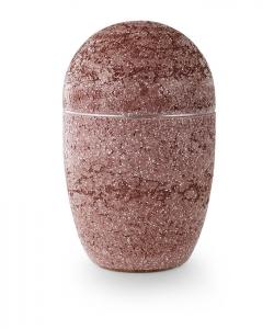 Urne oval rot Kunststein