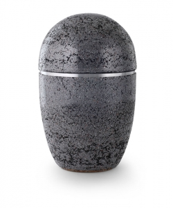 Urne oval grau Kunststein