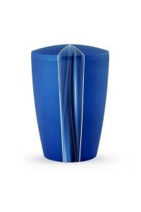 Urnen online Shop Auswahl: Urne Samton blau Kaskade Motiv