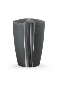 Urnen online Shop Auswahl: Urne Samton grau Kaskade Motiv