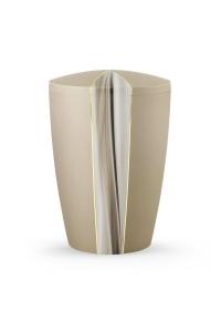Urnen online Shop Auswahl: Urne Champagner schimmernd Kaskade Motiv