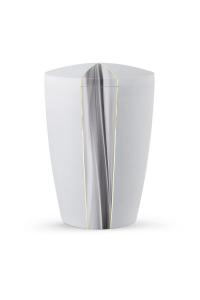 Urnen online Shop Auswahl: Urne Kreideweiß schimmernd Kaskade Motiv