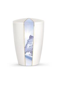 Urnen online Shop Auswahl: Urne weiß Perlmutt Firmament Gipfel