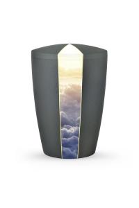 Bio Urne Anthrazit grau Firmament Wolken