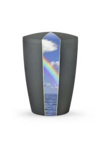 Bio Urne Anthrazit grau Firmament Regenbogen