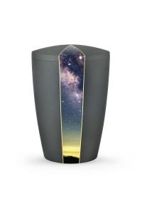 Urnen online Shop Auswahl: Urne grau Anthrazit Firmament Sternenhimmel
